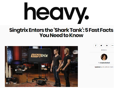 "<em>Heavy.com</em> - ""Singtrix Enters the 'Shark Tank': 5 Fast Facts You Need to Know"""