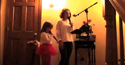 Applause - granddaughters rocking out with their new singtrix. Priceless time together