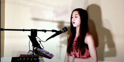 Amazing 12 year old Carolyn - Not About Angels #Singtrix #Birdy [HD]