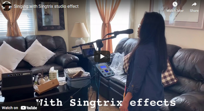 Singing with Singtrix studio effect - Trying the Singtrix studio effect for the first time.