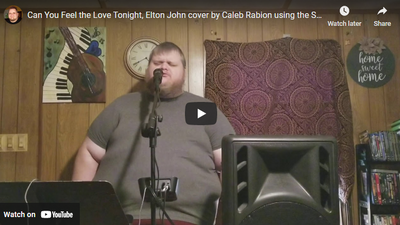 Can You Feel the Love Tonight, Elton John cover by Caleb Rabion using the Singtrix Karaoke system