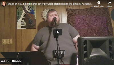 Stuck on You, Lionel Richie cover by Caleb Rabion using the Singtrix Karaoke system