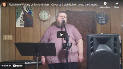 Right Here Waiting by Richard Marx - Cover by Caleb Rabion using the Singtrix Karaoke System