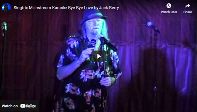 Singtrix Mainstreem Karaoke Bye Bye Love by Jack Berry
