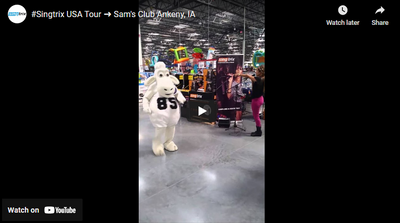 #Singtrix rocking the Grand Opening of the Ankeny, Iowa Sam's Club Store