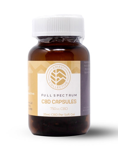 Full Spectrum CBD Capsules | 25 MG