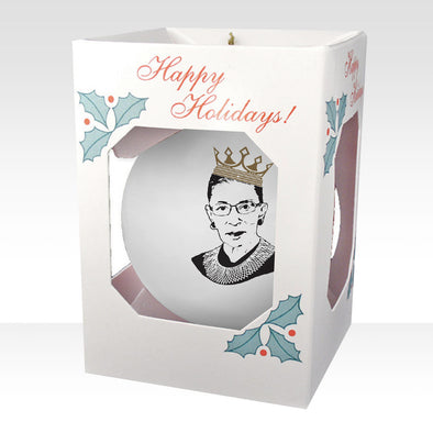 RBG Crown Ornament on White