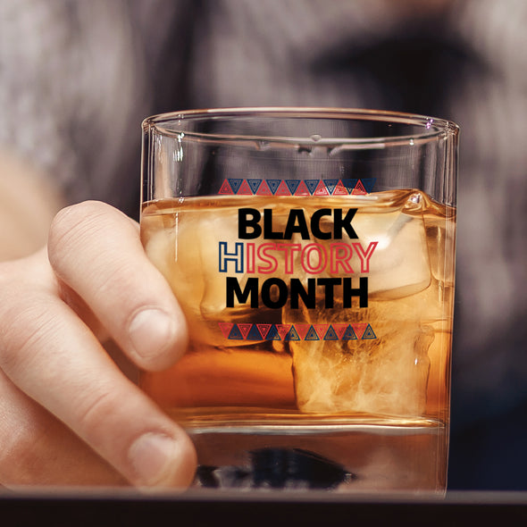 Black History Month Red Blue - Whiskey Glass