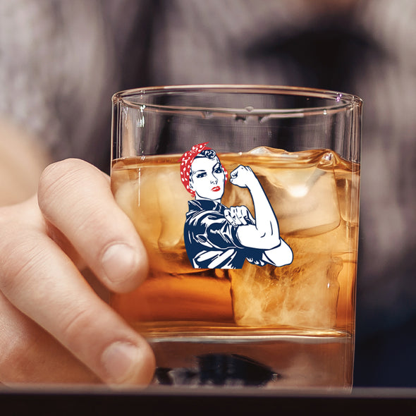 Rosie the Riveter - Whiskey Glass