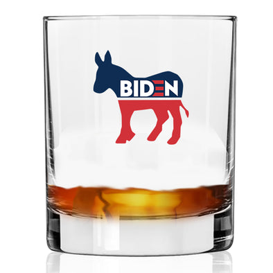 Biden Donkey Symbol - Whiskey Glass