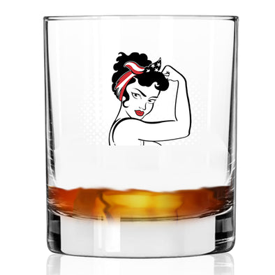 Rosie the Modern Woman - Whiskey Glass