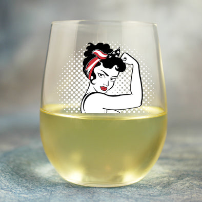 Rosie the Modern Woman - Wine Glass