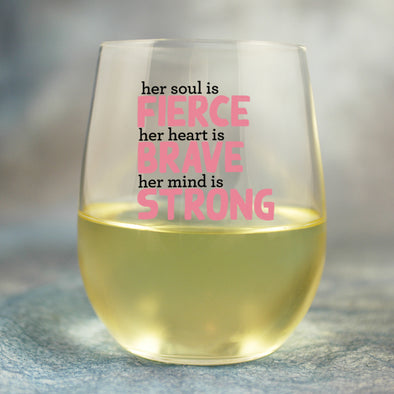 Her Soul is Fierce - Wine Glass