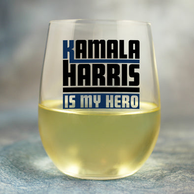 Kamala Harris is my Hero - Wine Glass