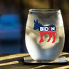 Biden Donkey Symbol - Wine Glass