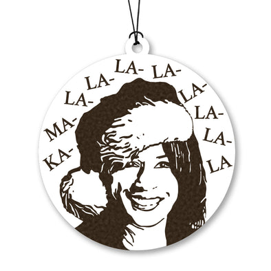 Kamala La La La Wood Ornament