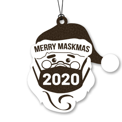 Santa Merry Maskmas 2020 Wood Ornament