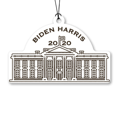 White House Biden Harris 2020 Wood Ornament