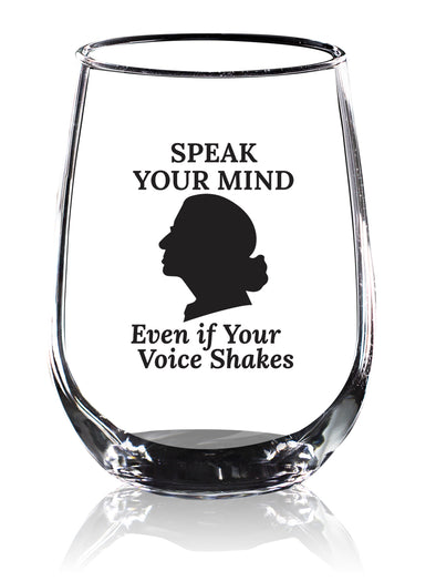 RBG Speak Your Mind - Black - Wine Glass