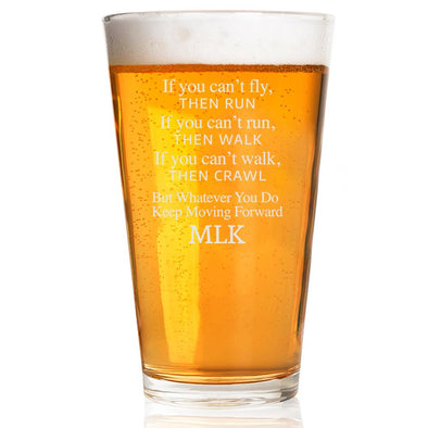 If You Can't Fly Then Run - Pint Glass
