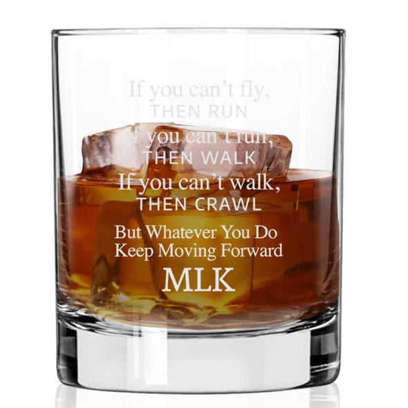 If You Can't Fly Then Run - Whiskey Glass