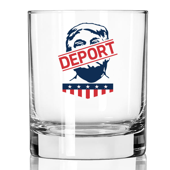Deport Trump - Face - Whiskey Glass