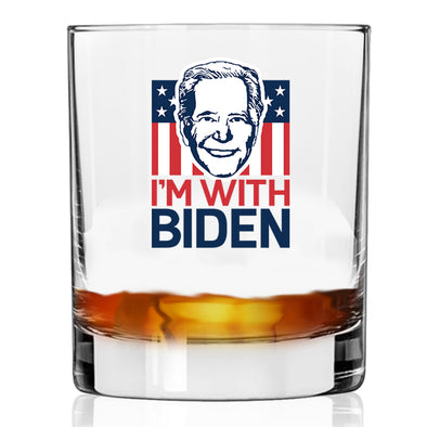 I'm with Biden Face - Whiskey Glass