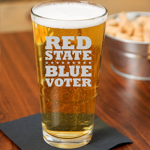 Red State Blue Voter - Pint Glass