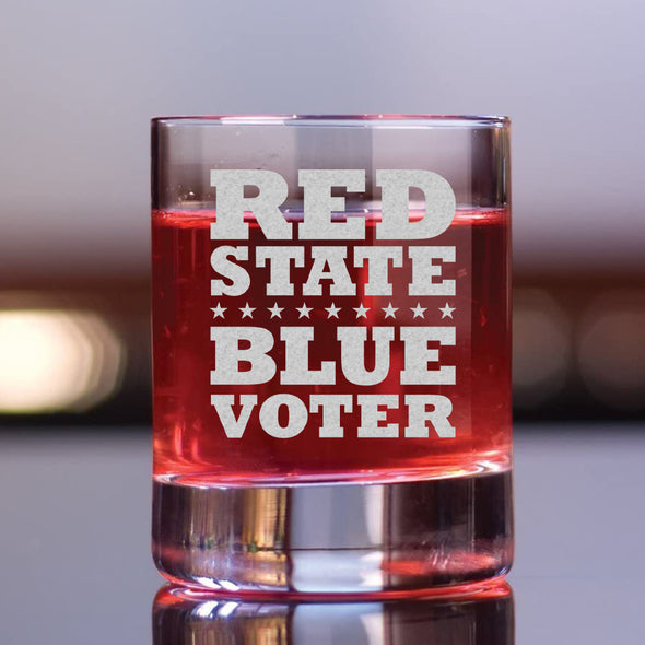 Red State Blue Voter - Whiskey Glass