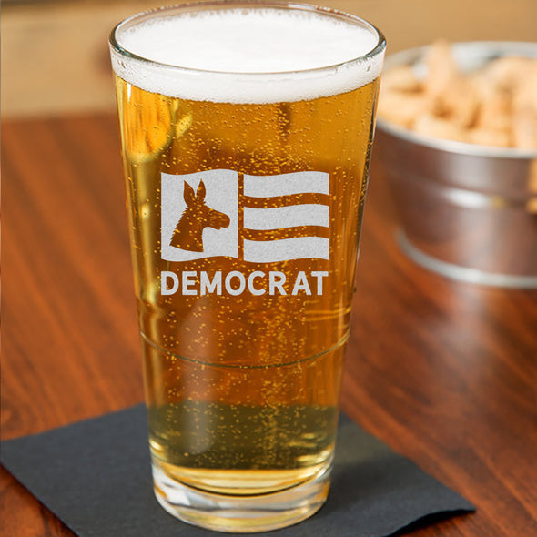 Democrat Flag - Pint Glass