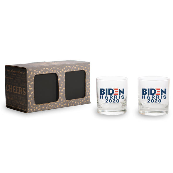 Biden Harris 2020 in Color 2 Pack and 4 Pack - Whiskey Glass
