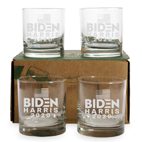 Biden Harris 2020 - 2 and 4 Pack Whiskey Glass