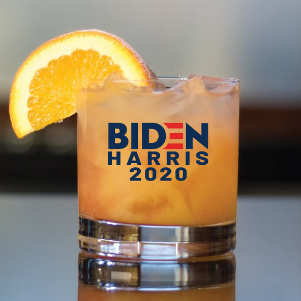 Biden Harris 2020 in Color - Whiskey Glass