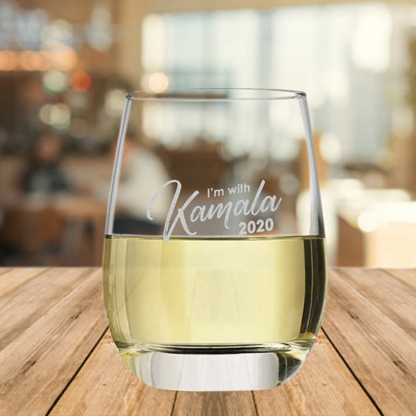 I'm With Kamala 2020 - Wine Glass