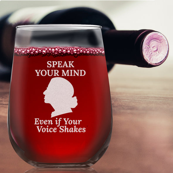 RBG Speak Your Mind - Wine Glass
