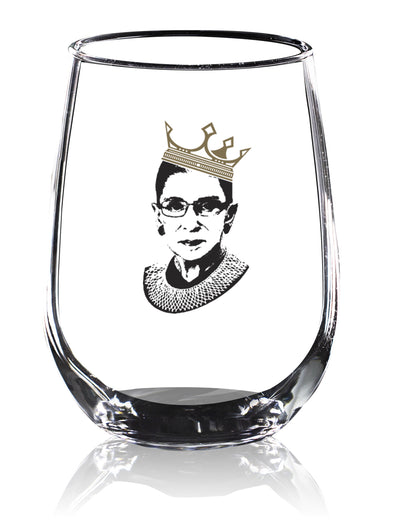 RBG Crown in Color - Wine Glass 2 Pack