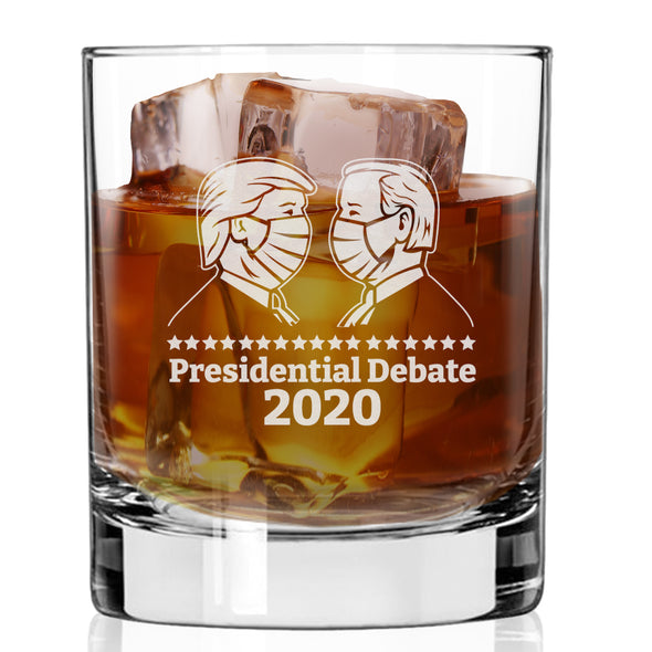 Presidential Debate Masked 2020 - Whiskey Glass