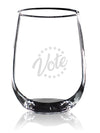 Vote Star Circle - Wine Glass