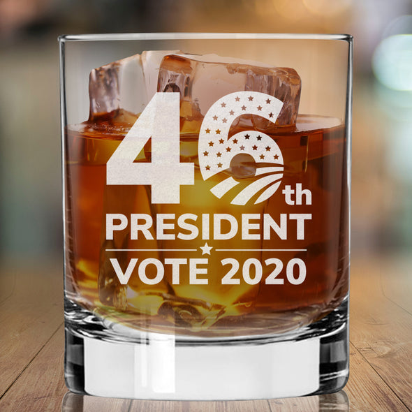 46th President Vote 2020 - Whiskey Glass