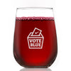 Vote Blue - Wine Glass