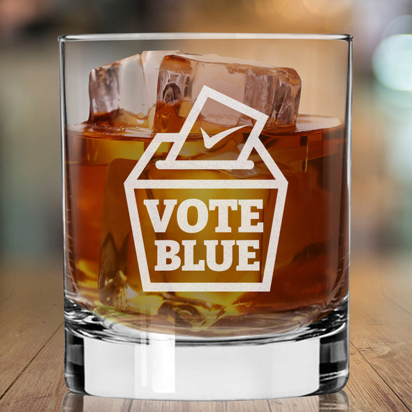 Vote Blue - Whiskey Glass
