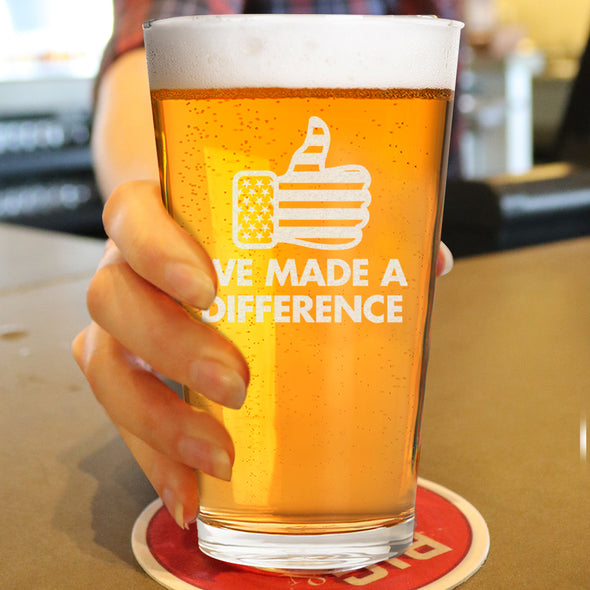 We Made a Difference - Pint Glass