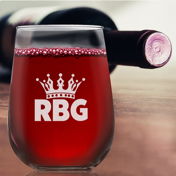 RBG Initial Crown Straight - Wine Glass