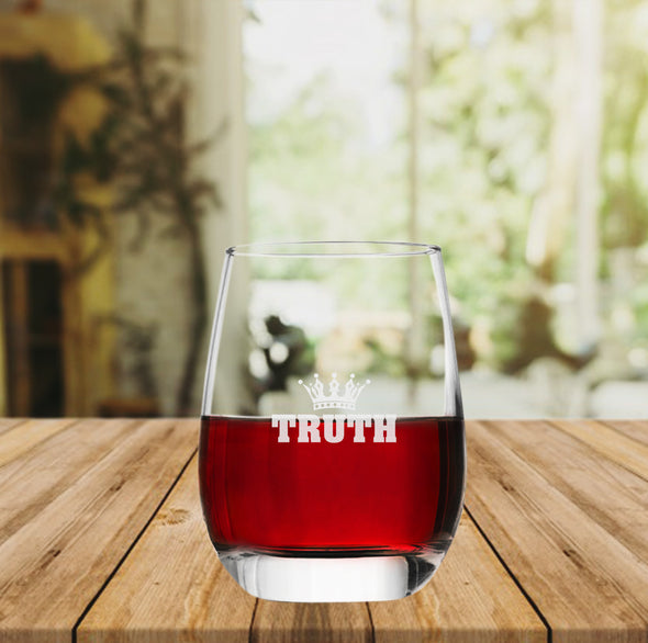 Truth Crown - Wine Glass