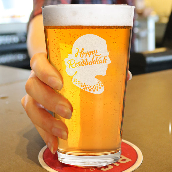 Happy Resistukkah - Pint Glass