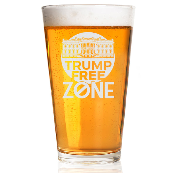 Trump Free Zone - Pint Glass