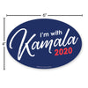 I'm With Kamala 2020 6x4 Oval Magnet