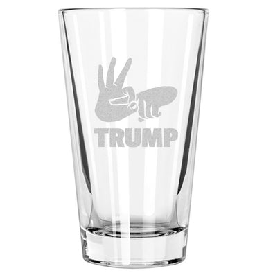 Fuck Trump - Hand Sign - Pint Glass