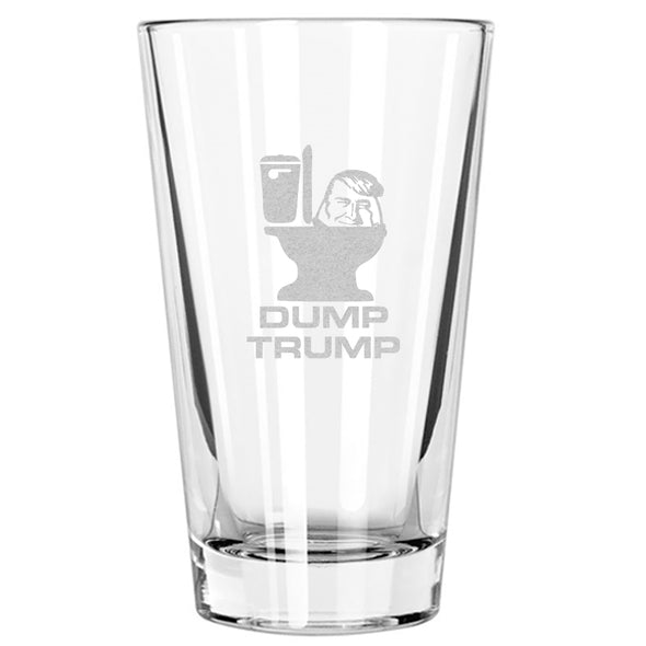 Dump Trump Toilet Seat Smile - Pint Glass