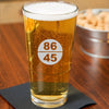 86 45 - Pint Glass